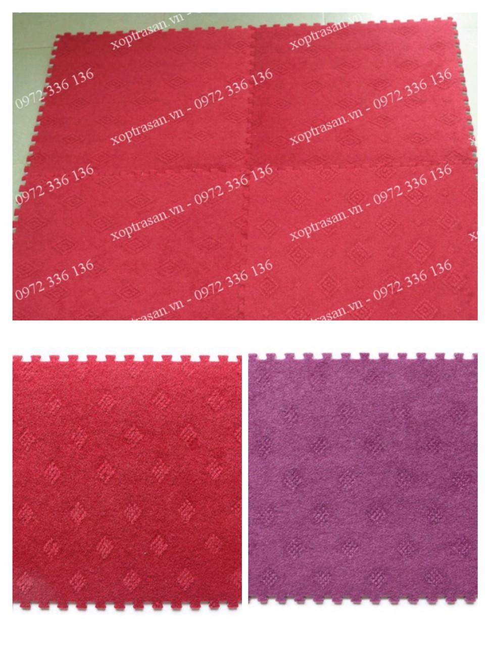 Thảm nỉ Hoa Tường Lâm 40×40 bộ 15 Tấm